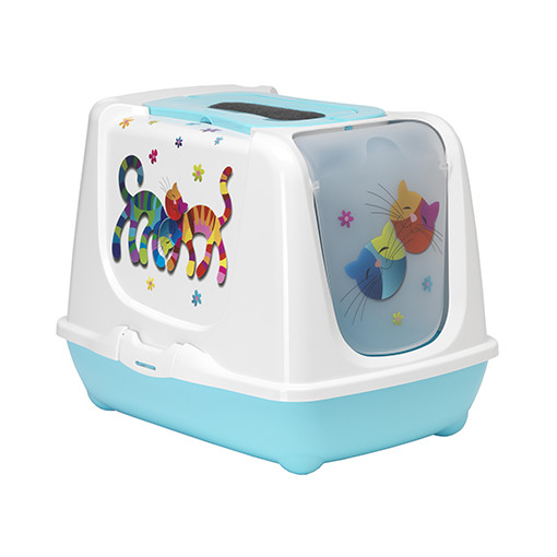 Caisse a chat friends forever bleue l 39 os - Caisse a chat ...